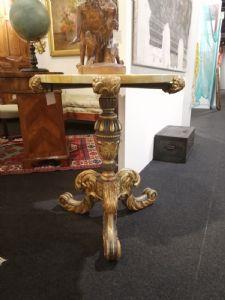 Tavolino legno dorato e laccato