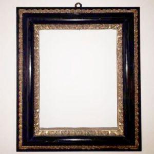 Salvator Rosa框架在黑檀木中有2个金雕订单