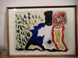 Dipinto Virgilio Guidi (1891-1984) del 1959 firmato e con autentica della figlia firmata sul retro