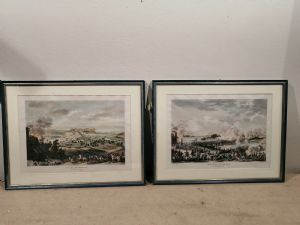 Two Napoleonic prints from the 1800s, watercolor from drawings by Carle Vernet