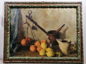 Dipinto del '900 natura morta firmato pittore riminese Bianchi