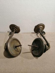 两个17世纪晚期的青铜烛台