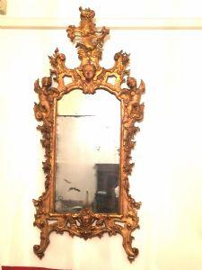 Specchiera intagliata e dorata . Venezia Sec XVIII