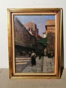 Anacleto Della Gatta (Sezze 1868 - Carmignano 1932) Ponte Vecchio, finales del siglo XIX, principios del siglo XX, firmado