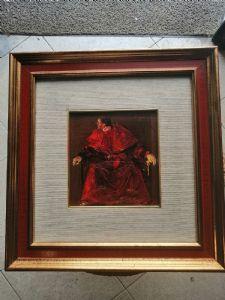Angelo Tassi (Bologna, 9 October 1937) portrait of a Cardinal - signed