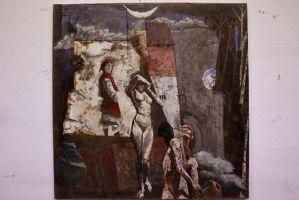 Dipinto olio su tela trattata Gabrie Pittarello
