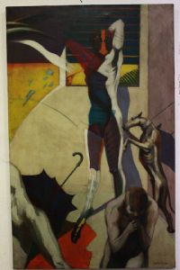 Dipinto quadro firmato Voltolina