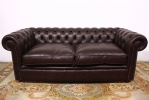 Chesterfield chesterfield 3-seat sofa club original English brown leather