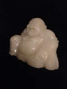 Buddha aus weißer Jade. Japan Sec XIX