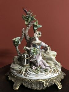 large group of ceramic biscuit capodimonte