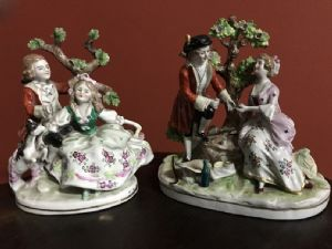 pair of ceramic figurines from Capodimonte