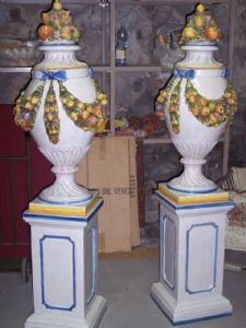 Pair of large vases based