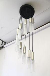 枝形吊灯枝形吊灯60年代天花灯murano设计和钢制悬挂。恢复了!酿酒