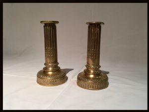 Coppia di candelabri in bronzo Luigi XVI