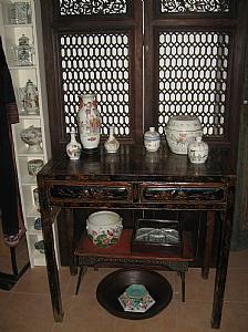 Chinese lacquered table-consoles