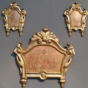 Trittico di cartaglorie Neoclassiche
