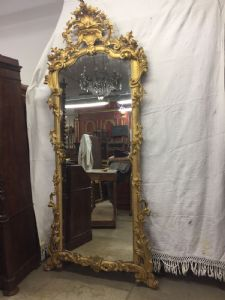 Louis XV Gold Spiegel großer Charme h255x120