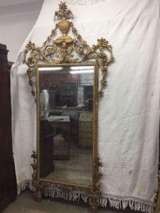 Espelho de ouro excepcional Louis xvi coleção scatizzi firenze h262x125