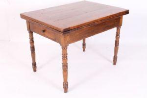 Antico Tavolo toscano a libro arte povera , metà 800 restaurato . Tavolino allungabile Antiquariato .