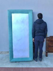 Vitrina antigua - ¡aparador de doble cuerpo con reposabrazos de nogal! 1860 L. Filippo ¡Cristal anticuario de la Toscana!