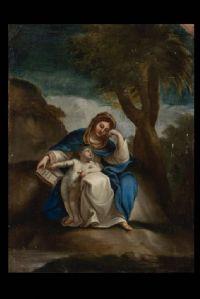 Vierge à l'Enfant, huile sur cuivre