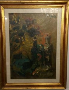 Dipinto Olio su Tela, Emanuele Cappello, Anni '60/'70