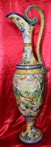 Anfora in maiolica dipinta e decorata scena mitologica - Napoli? - '800
