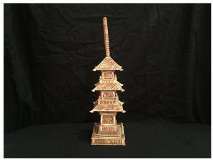 Pagoda budista en hueso tallado, Japón, circa 1930