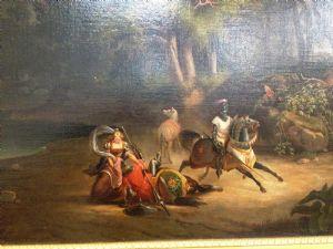 dipinti dell\' ottocento su anticoantico Paesaggio con figure ...