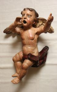 Pair of putti being part of an organ