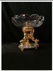 Tasse aus Kristall und vergoldeter Bronze, Baccarat, 19. Jahrhundert