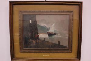 Dipinto olio su tela con cornice firma Aldo Pironti seconda metà '900 painting