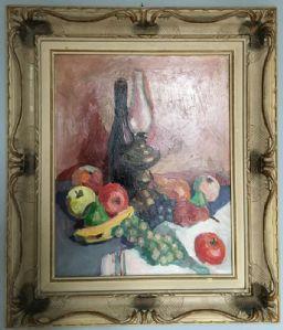 Anonymous Gemälde Oil on Board, Stillleben - Obst, 40s / 50s