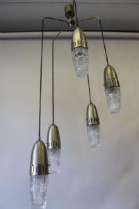 :枝形吊灯枝形吊灯5灯modernariato 60年代复古太空时代已恢复!