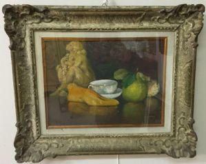 Dipinto Olio su Cartone, G. Leoni, Natura Morta, Anni '40