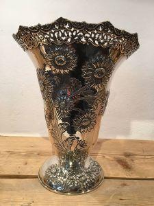 Jarrón de flores de plata maciza 950