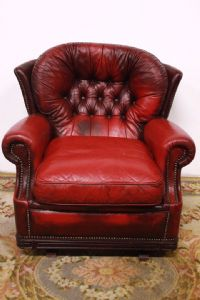 Chester Poltrona cadeira modelo com Inglês originais Borgonha balanço do vintage