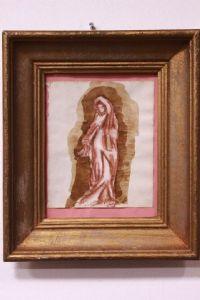 mista sobre papel com quadro que descrevem Madonna técnica mista 1812