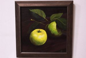 Quadro dipinto olio su tela raffigurante frutta painting oil on canvas signed