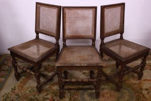 Tris 3 chairs of the '900 vintage wood old antique chairs