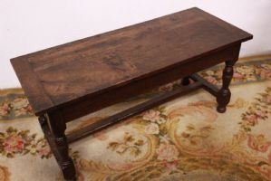 Rectangular wooden coffee table with worked legs coffee table wood old
