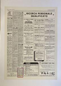 MARCANCIEL STUPRO 'C / O CLAUDIO CINTOLI Siebdruck auf Papier