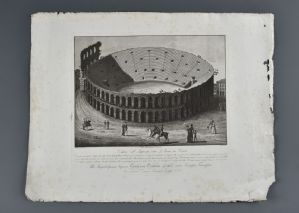 "Bennassuti Giuseppe ""View of the amphitheater called the Arena in Verona"""
