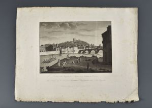 "Bennassuti Giuseppe ""View of the stakes of Santo Stefano and its surroundings in Verona"" 1825"