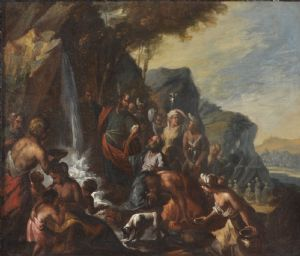 Moses causes water to flow