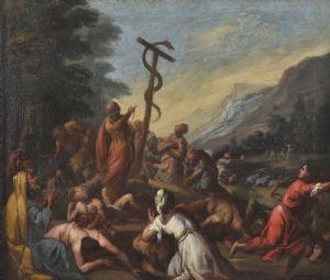 Mose' e il serpente di bronzo