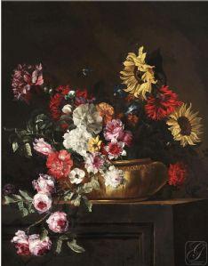 Dipinti del 600 dipinti antichi fiori antiquariato su for Vasi di fiori dipinti