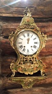 "IMPORTANT CLOCK CARTEL FRENCH WALL IN PAINTED WOOD - ""façon de Venise"" - Paris, 1760 / '70 (fully functional) -"