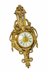 Clock gilt bronze wall France Sec XIX
