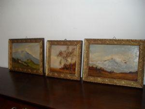 trittico  paesaggi